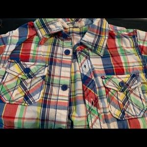 Other - Toddler Plaid button- down shirt